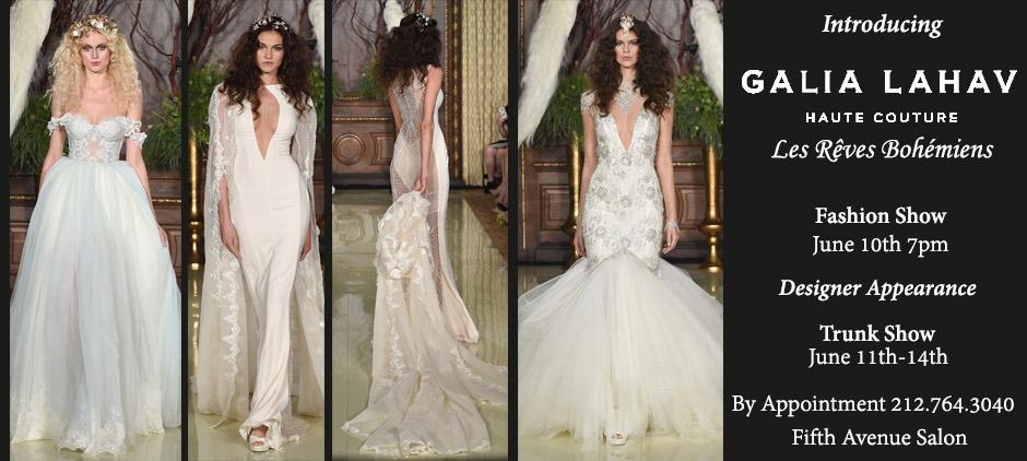 Galia Lahav Fashion Show June 10th Fifth Avenue