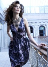 Bridesmaid Spring 2013 03 Noir by Lazaro Floral Bridesmaids Dress