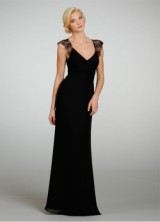 Bridesmaid Spring 2013 05 Long Black Bridesmaids Dress