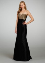 Bridesmaid Spring 2013 06 Long Black Bridemaids Dress