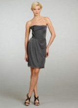 Bridesmaid Spring 2013 07 Alvina Valenta Short Gray Bridesmaids Dress