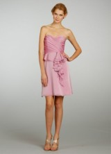 Bridesmaid Spring 2013 08 Alvina Valenta Short Pink Bridesmaid Dress