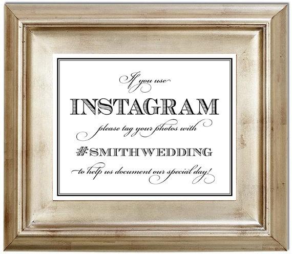 Instagram Wedding: Instagram Your Wedding Through A Custom Hashtag!