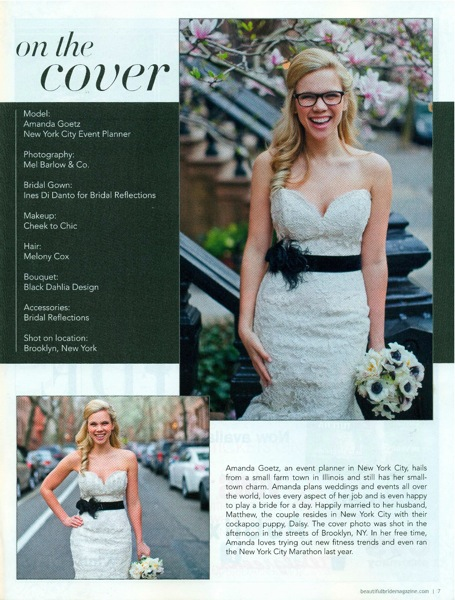 Ines di Santo Wedding Gown Featured on Beautiful Bride Magazine Cover