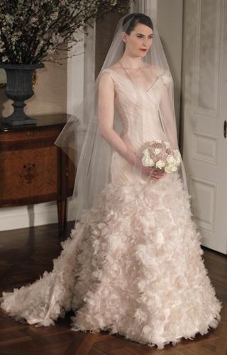 Jessica Beil Weds in a Pink Custom Giambattista Valli Wedding Gown