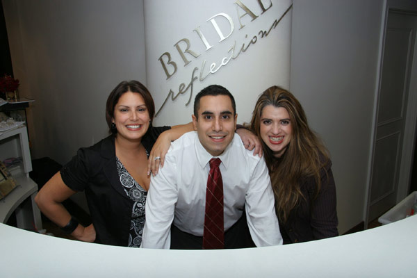 Bridal Reflections (from left) General Managers RoseLynn Micari-Fiumara and Anthony Micari, with Vice President Cristina DeMarco