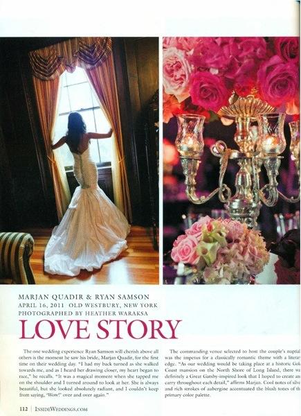 Inside Weddings Magazine Page 1