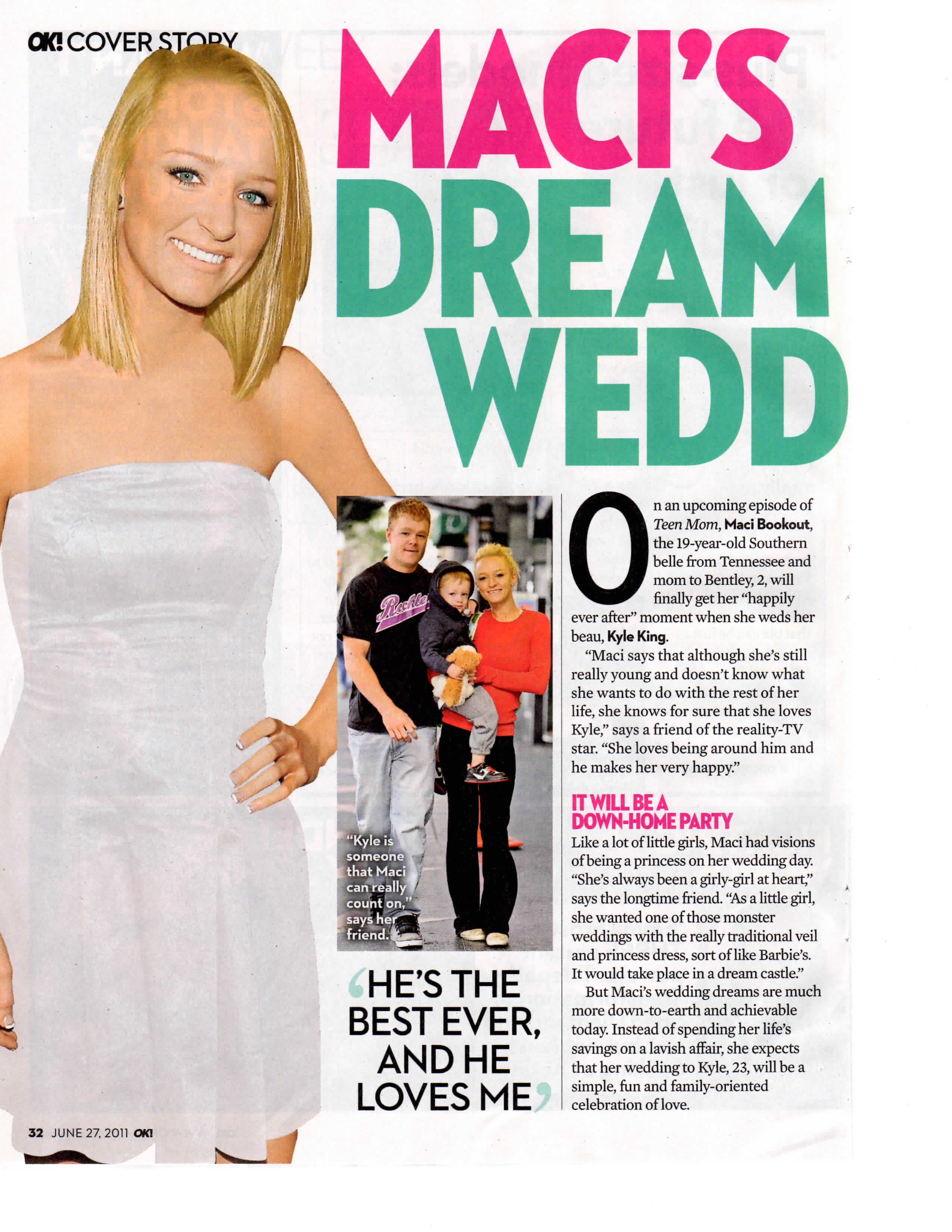 """Bridal Reflections Featured In OK Magazine's """"Maci's Dream"""