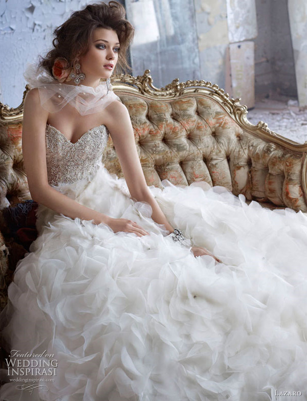 Superb Lazaro Bridal Collection 2012 At Bridal Reflections Of New York