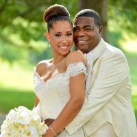 Bridal Reflections Bride Megan Wollover Marries Tracy Morgan