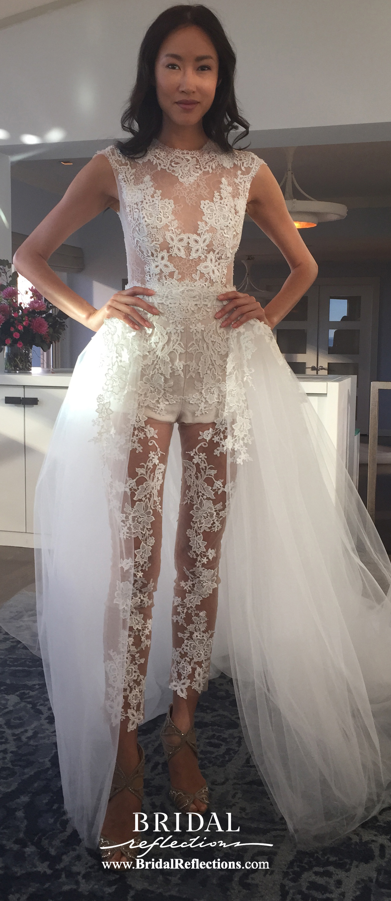 Ines di santo fall winter 2016 collection for Removable tulle skirt wedding dress