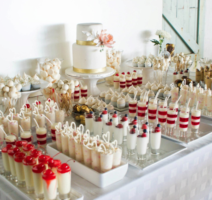 Dessert Table Wedding Cake: Wedding Wednesday: Dessert Bars