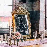 Wedding Wednesday: Champagne Escort Cards