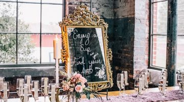 Wedding Wednesday: Champagne Escort Cards