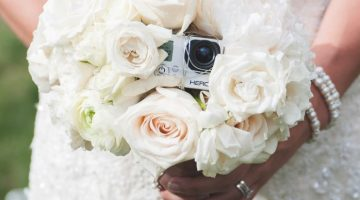 Wedding Wednesday: A Unique Perspective- Bride's Placing Go Pro Cameras in their Bouquets