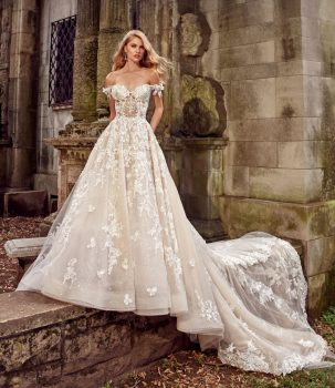4397add5669e Eve of Milady style 4367 is a hand beaded embroidered three-dimensional  mermaid gown. Sculptured neckline with matching cap sleeve. Available at  all Bridal ...