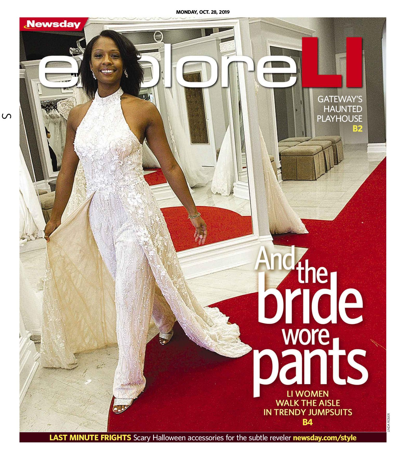 And the Bride Wore Pants - page 1 - Stephen Yearck jumpsuit at Bridal Reflections