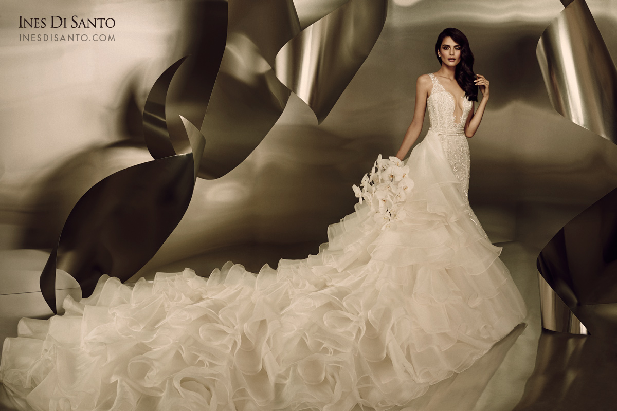 Ines di santo fall winter 2015 couture dress collection for Ines di santo wedding dress
