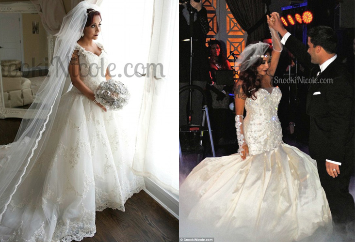 Snooki Shopping At Bridal Reflections